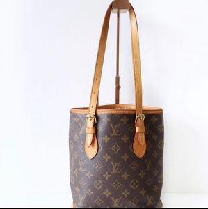 Louis Vuitton classic monogram vintage bucket bag